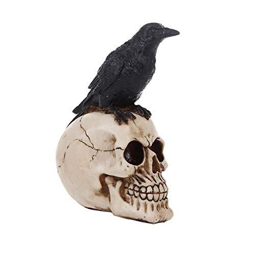 Mubolin Cuervo cráneo Ornamentos cráneo Cabeza Estatua Figura Creativa decoración Personalizada