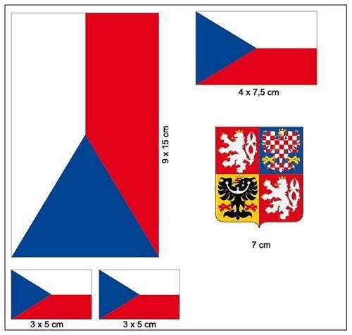 Aufkleber Set Tschechien Fahne Flagge