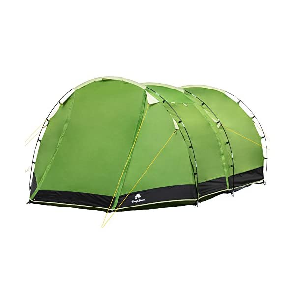 CampFeuer - Tunnel Tent Family Tent 3000 mm water column - Green/Black