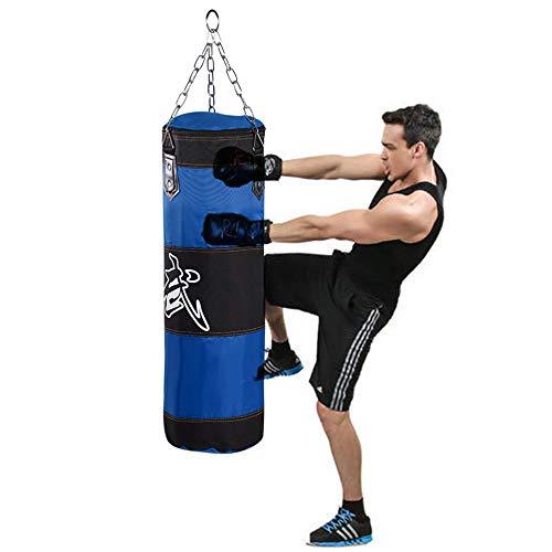 Stansväska för män kvinnor barn, inomhus- / trädgårdssäck med kedja, kraftig träffväska MMA, kickboxning och muay thai, träningsutrustning för hemmet (80 cm)