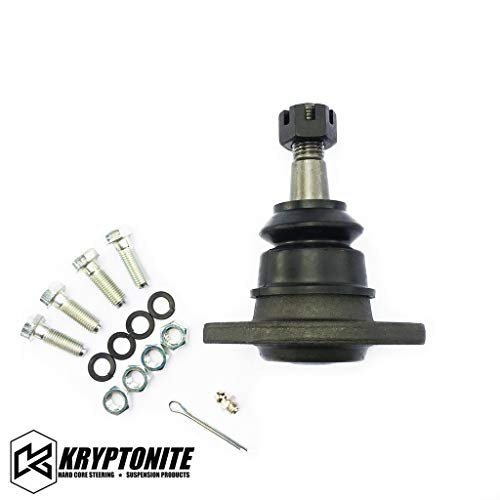 Kryptonite Bolt-In Heavy Duty Replacement Upper Ball Joint (FOR AFTERMARKET CONTROL ARMS ONLY) KR6292 Compatible with 2001-2020 Chevy Silverado/GMC Sierra 1500HD/2500HD/3500HD