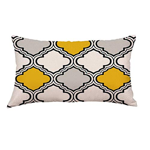 30x50 cm Super weiche geometrische kurze Plüsch Kissenbezug, Sofa Pad Set Home Decoration,Geometrische Kissenbezug Taille Throw Kissenbezug (D)