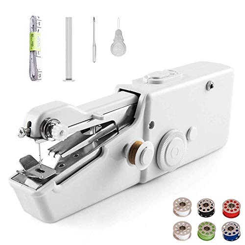 Ozetti Handheld Sewing Machine - Portable Mini Sewing Machine, for Kids Beginners, Home, Travel or...