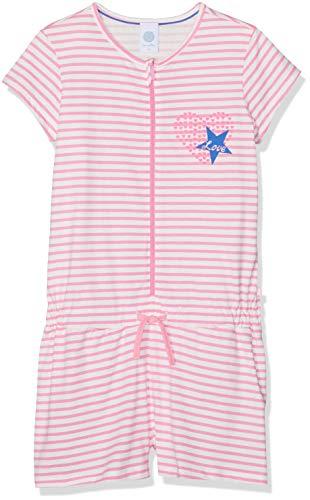 Sanetta Sanetta Mädchen Overall Short Einteiliger Schlafanzug, Rosa (Scampi 3950), 104