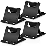 Cell Phone Stands Holder, 4Pack Aupek Foldable Adjustable Lightweight Desktop Dock Android Phone Holder for Desk Compatible devices (4-7.9') iPhone 11 Xs Max XR 8 7 6 Samsung Galaxy S10 S9 S8- Black