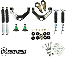 Kryptonite Stage 3 Leveling Kit with Bilstein Shocks & Cam Bolt Kit Compatible with 2011-2019 Chevy/GMC 2500HD 3500HD KR11STAGE3BIL+CAM