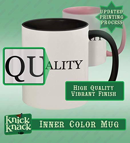 got debit? - 11oz Ceramic Colored Handle and Inside Coffee Mug Cup, Black