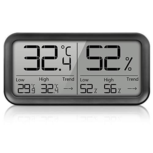 AngLink Digitales Thermo-Hygrometer Innen, Tragbares Thermometer Hygrometer Luftfeuchtigkeitsmessgerät mit Hohen Genauigkeit für Raum klimakontrolle, Babyraum, Wohnzimmer, Büro