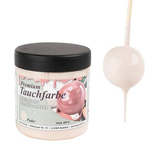 Ideen mit Herz Premium-Tauchfarbe mit Hochglanz-Porzellaneffekt | 250 ml (puder)