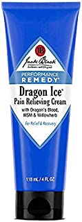 Jack Black - Dragon Ice Pain-Relieving Cream, 4 fl oz - Performance-Remedy Product, Topical, Non-Greasy Pain Relief, Botanical Ingredients, Dragon's Blood, Willowherb Extract, Ginger Root Extract