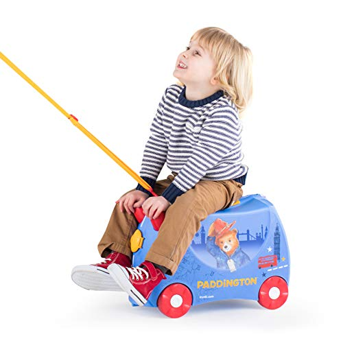 Trunki Trolley Kinderkoffer, Handgepäck für Kinder: Paddington Bär (Blau) - 2