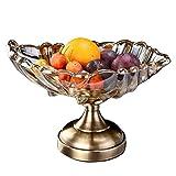 LIN-rlp Bandejas de Frutas Europea pote de Cristal Frutos Secos Plato de Fruta de café decoración de la Tabla Modelo de Habitaciones del Hotel Aperitivo Bandeja for Servir (Color : A)