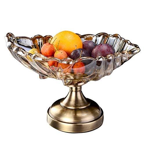LIN-rlp Bandejas de Frutas Europea pote de Cristal Frutos Se