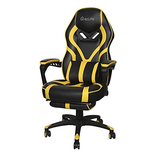 LSLY # Gaming Chair Racing Office Computer Ergonomischer Videospielstuhl Ergonomischer Rückenlehnensitz mit hoher Rückenlehne Verstellbarer Drehknopf
