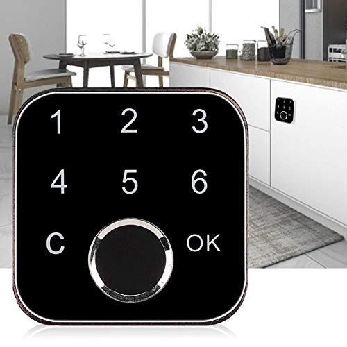 Contraseña de huella digital Práctico bloqueo de contraseña de huella digital Cerradura sin llave Cerradura de huella digital para el hogar Cerradura inteligente para gabinetes de oficina