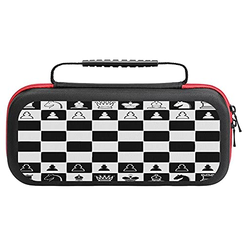 Chess Carrying Storage Case for Nintendo Switch, Hold 20 Game Cartridge Protective Portable Hard Shell Pouch Carrying Travel Game Bag for Nintendo Switch Console Accessories