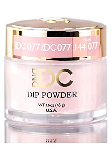 DND DC Neutrals DIP POWDER for Nails 1.6oz, 45g, Daisy Dipping (w/ Glitter) Made in USA (Strawberry Latte (077))