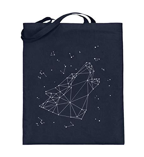 Generisch Sternbild Wolf Sternzeichen Jutebeutel | Astrologie Horoskop Cool Baumwolltasche