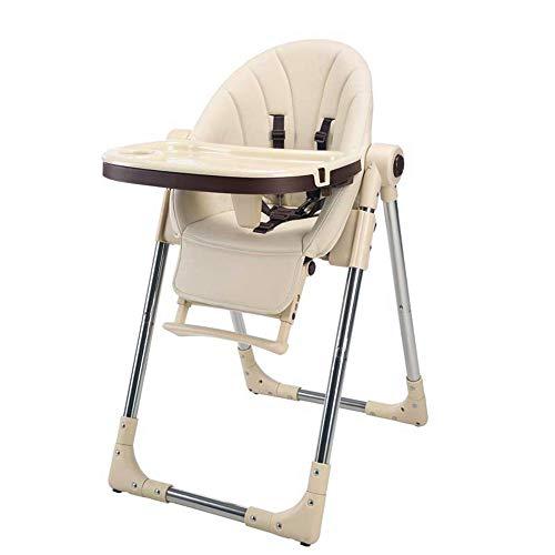 Chaise haute Chaise haute bébé alimentation réglable Chaises hautes Solution avec plateau for les nourrissons de bébé tout-petits bébé Chaise haute Chaise haute portable ( Color : Champagne )