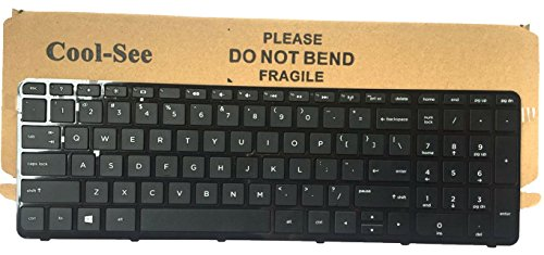 Cool-See New Laptop US Keyboard With Frame For HP 15-R000 15-r011dx 15-r029wm 15-r063nr 15-r052nr 15-f010dx 15-r030nr 15-r081nr 15-r004xx 15-r013ca 15-r015dx 15-r017dx 15-r018dx 15-r024nr Series