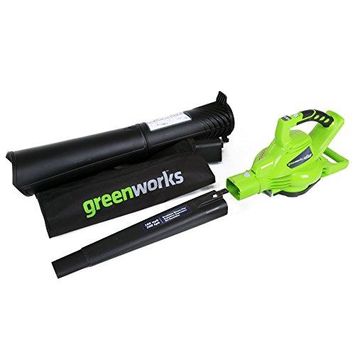 Greenworks 40V (185 MPH) Brushless Cordless Leaf Blower / Vacuum, Tool Only 24312