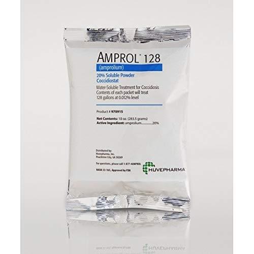 Huvepharma Inc/Agri Labs 22702398 Amprol 128 (20% Soluble Powder) 10-Oz Packet