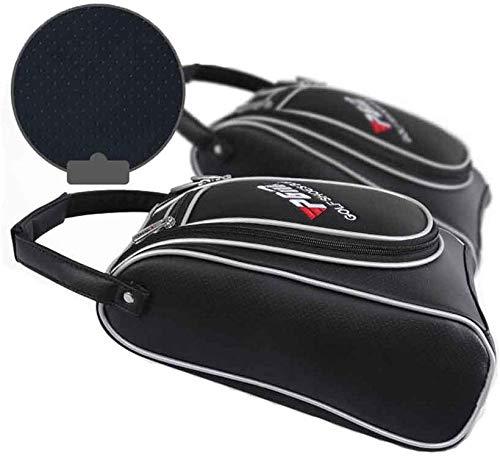 POSMA PGM-XB003 - Borsa per Scarpe da Golf, in Poliuretano, Colore: Nero/Bianco