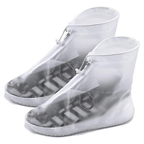 NATUCE Transparent Regenüberschuhe Wasserdicht Schuhe Überschuhe für Männer Frauen, Outdoor Rutschfester Schuhüberzieher Wiederverwendbar, Regenüberschuhe, Regenschutz Galoschen für Regen Schnee (XL)