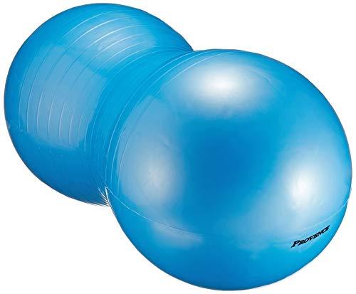 PROVENCE(プロヴァンス) アンチバースト ピーナッツ型 ヨガボール バランスボール エクササイズ ピラティス ポンプ付き ブルー PV-62 ブルー