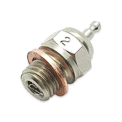TCA Racing Candela Standard N° 2 - Glow Plug - per Motori A Scoppio - Scala 1/8 - 1/10 - AUTOMODELLI
