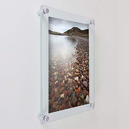 Clear Acrylic Wall Mount Floating Frame for 24 x 36 - Outside Dimension 27 x 39 Made in the USA
