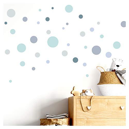 Little Deco DL380 - Adhesivo Decorativo para Pared, 86 Puntos, diseño de círculos, Multicolor