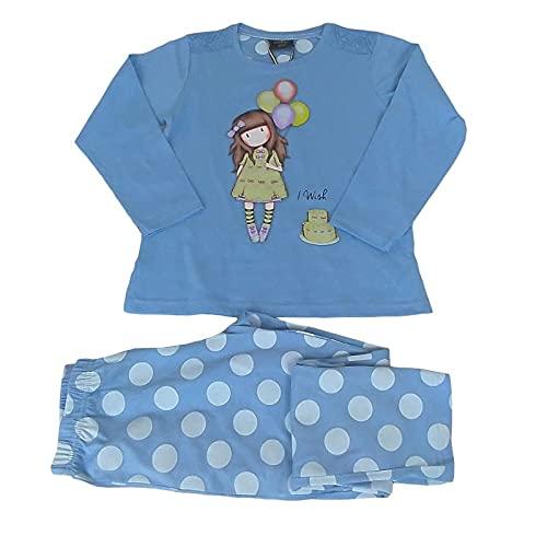 Santoro Gorjuss Pijama de 2 piezas, camiseta + pantalón de algodón para primavera/verano, original y auténtico, ideal para niña/niña, en bonita caja de regalo 54478 14 años