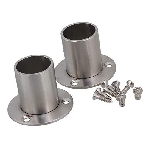 BQLZR manguera de acero inoxidable toma porte-bride de soporte de fijación para tubo de diámetro 25mm Ferretería–Juego de 2