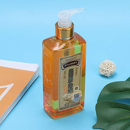 Champú de jengibre, champú de control de aceite, cuero cabelludo limpio confiable y duradero para nutrir el cabello mejora la pérdida de cabello