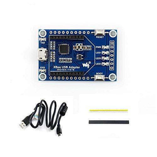 Waveshare XBee - Tarjeta de comunicación USB con interfaz Xbee compatible con conectividad XBee