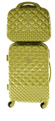 30lt suitcase set + vanity case 12lt golden lime shine