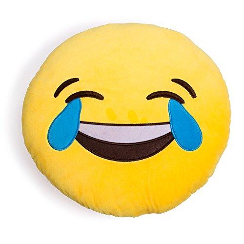 Desire Deluxe Cuscino Emojis Ridi alle Lacrime Sorridente Cuscino Emoticon Cacca Che Ride Grande Cuscino Decorativo Peluche Emoti Pupazzo Emoticon Smile Face Piangere Colore Giallo