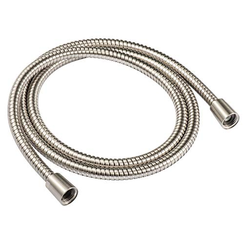 118-inch Extra Long Shower Hose Replacement, 304 Stainless Steel Long Hand Held Shower Hose With Brass Fitting (118-inch, Stainless Steel)