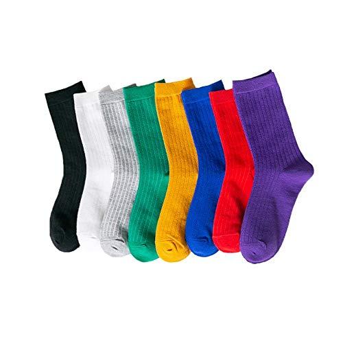 CLW 8 pares de calcetines manojo de cañón de la primavera de...