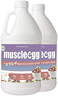 MuscleEgg Fruit Cereal Liquid Egg Whites Protein - 2 Half-gallons
