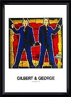 ポスター ギルバート&ジョージ 無題 額装品 ウッドハイグレードフレーム(ブラック)