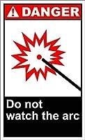 複製金属錫サイン、アーク危険サインを見ないでください、私有財産のための警告サイン金属屋外危険サイン錫ミートルサインアートヴィンテージプラークキッチンホームバー壁の装飾