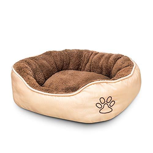 elan ® Hundebett für Hunde und Katzen - waschbarer Hundekorb – atmungsaktives und gemütliches Material - extra erhöhter Rand - Hunde Bett mit Anti-Rutsch Unterseite
