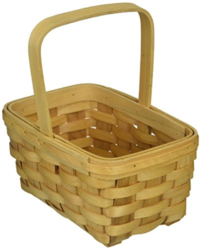 Darice, 8.5 inch, Wood Country Basket with Fixed Handle