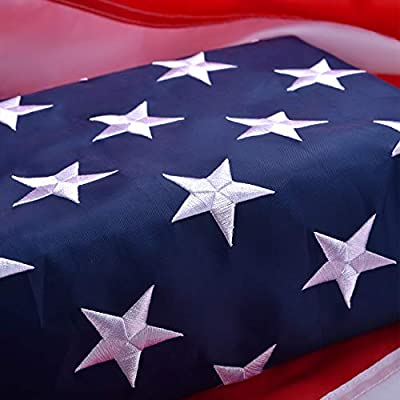 American Flag, Heavyweight Oxford Nylon American Flag 3x5 Outdoor, UV Protected/Sewn Stripes/Embroidered Stars/Brass Grommets, US Flag Built for The Toughest Conditions