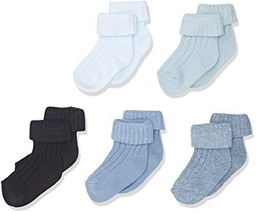 Mamas & Papas Baby-Jungen 5 Pack Ankle Socks, 5 Blau, 0-6 Monate