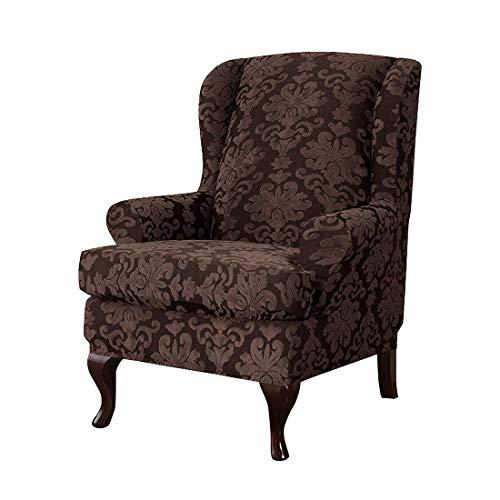 Nati Sesselbezug Elastisch Ohrensessel Husse Bezug Muster Blumen Schutzbezug für Relaxsessel Fernsehsessel Liege Sessel Dekorative Sofabezug Kaffee Eine Grösse