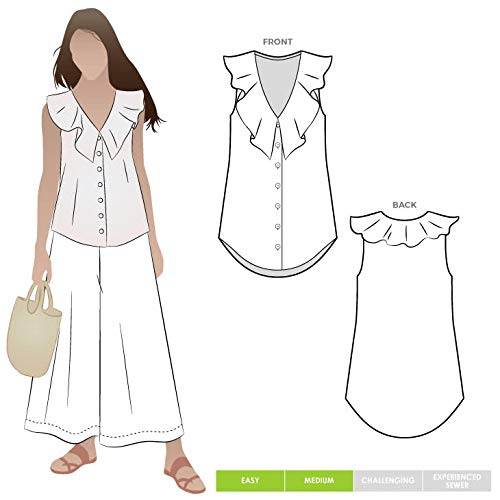 Style Arc Sewing Pattern - Almy Woven Top (Sizes 04-16) - Click for Other Sizes Available