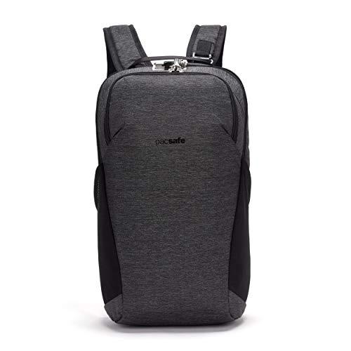 Pacsafe Vibe 20 - Anti-Diebstahl Rucksack, Backpack, Diebstahlschutz Daypack, Sicherheitstechnologie 20 Liter, Grau Melange/Granite Melange